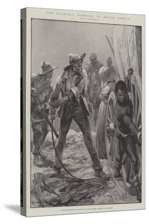 The Guerilla Warfare in South Africa-Richard Caton Woodville II-Stretched Canvas Print