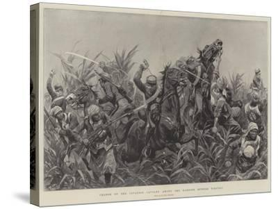 Charge of the Japanese Cavalry Among the Bamboos Outside Tientsin-Richard Caton Woodville II-Stretched Canvas Print