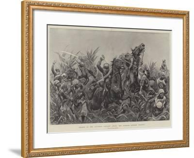 Charge of the Japanese Cavalry Among the Bamboos Outside Tientsin-Richard Caton Woodville II-Framed Giclee Print