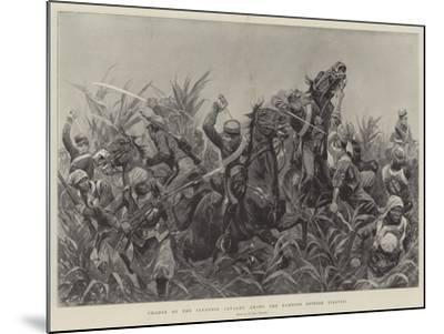 Charge of the Japanese Cavalry Among the Bamboos Outside Tientsin-Richard Caton Woodville II-Mounted Giclee Print