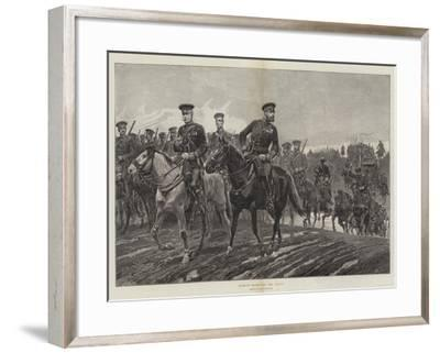 Russian Troops on the March-Richard Caton Woodville II-Framed Giclee Print