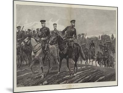 Russian Troops on the March-Richard Caton Woodville II-Mounted Giclee Print