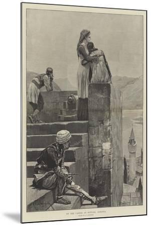 On the Castle at Scutari, Albania-Richard Caton Woodville II-Mounted Giclee Print