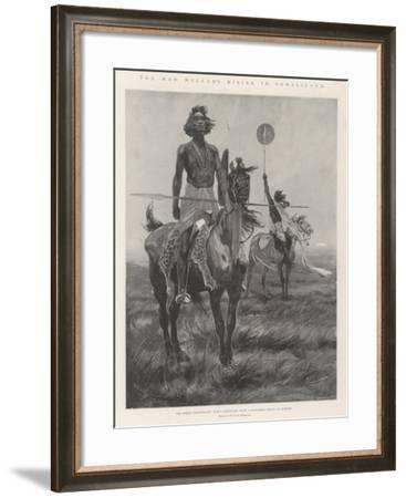 The Mad Mullah's Rising in Somaliland-Richard Caton Woodville II-Framed Giclee Print