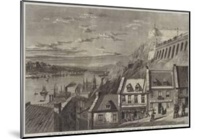 The Visit of the Prince of Wales to Canada, the Citadel of Quebec, from Prescott Gate-Richard Principal Leitch-Mounted Giclee Print