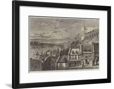 The Visit of the Prince of Wales to Canada, the Citadel of Quebec, from Prescott Gate-Richard Principal Leitch-Framed Giclee Print