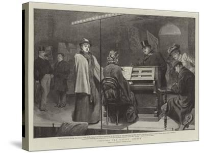 Choosing the Gaiety Chorus-Robert Barnes-Stretched Canvas Print