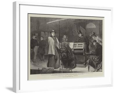 Choosing the Gaiety Chorus-Robert Barnes-Framed Giclee Print