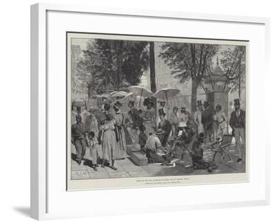 Scene in the Rua Primiero Do Marzo, Rio De Janeiro, Brazil-Richard Caton Woodville II-Framed Giclee Print