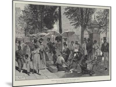 Scene in the Rua Primiero Do Marzo, Rio De Janeiro, Brazil-Richard Caton Woodville II-Mounted Giclee Print