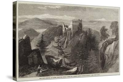 The Alte Schloss, at Baden, from the Rocks-Richard Principal Leitch-Stretched Canvas Print