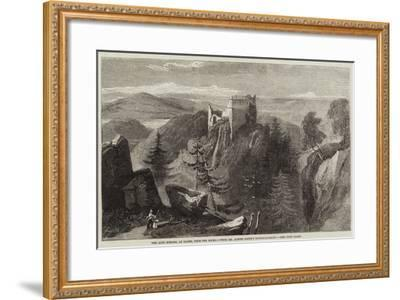 The Alte Schloss, at Baden, from the Rocks-Richard Principal Leitch-Framed Giclee Print