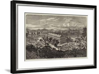 The Harbour of Hong Kong-Richard Principal Leitch-Framed Giclee Print