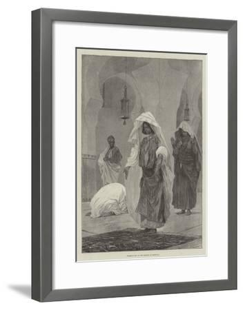 Women's Day in the Mosque in Morocco-Richard Caton Woodville II-Framed Giclee Print