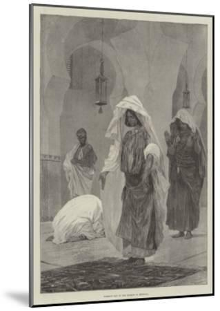 Women's Day in the Mosque in Morocco-Richard Caton Woodville II-Mounted Giclee Print