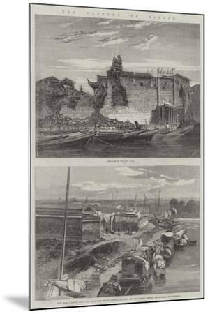 The Capture of Ningpo-Richard Principal Leitch-Mounted Giclee Print