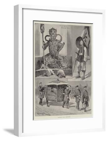 Chinese War Sketches-Richard Caton Woodville II-Framed Giclee Print