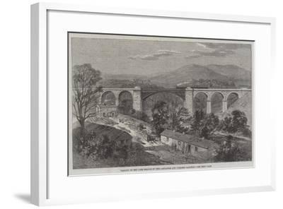 Viaduct on the Lime Branch of the Lancaster and Carlisle Railway-Richard Principal Leitch-Framed Giclee Print