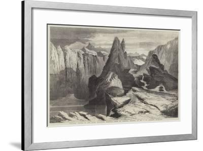 Volcanic Crater in the Saian Mountains, Mongolia-Richard Principal Leitch-Framed Giclee Print