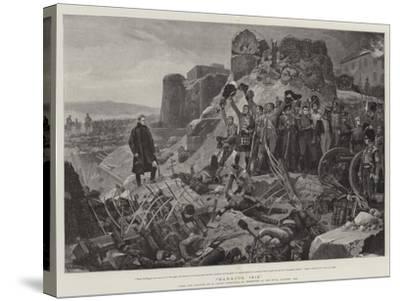 Badajos, 1812-Richard Caton Woodville II-Stretched Canvas Print