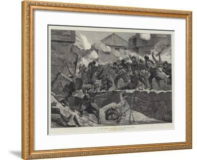 The War Between Servia and Bulgaria, the Fight at Pirot-Richard Caton Woodville II-Framed Giclee Print