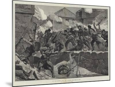 The War Between Servia and Bulgaria, the Fight at Pirot-Richard Caton Woodville II-Mounted Giclee Print