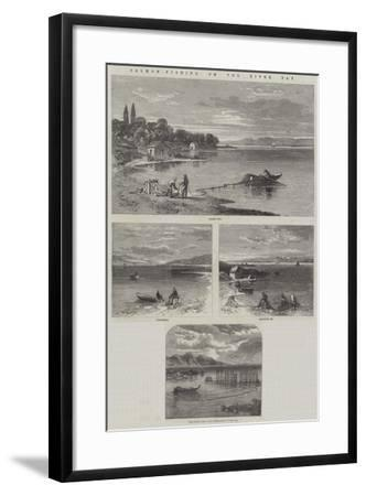 Salmon-Fishing on the River Tay-Richard Principal Leitch-Framed Giclee Print