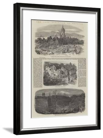 The Late Explosion at Mayence-Richard Principal Leitch-Framed Giclee Print