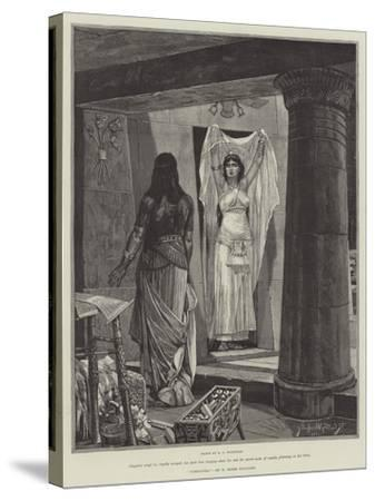 Cleopatra-Richard Caton Woodville II-Stretched Canvas Print