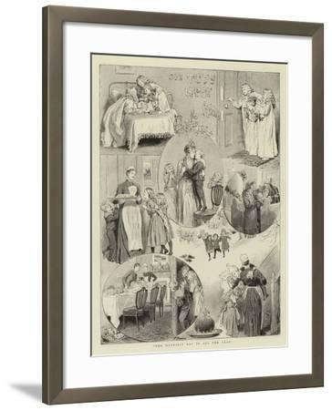 Our Tots Happy Xmas-Robert Barnes-Framed Giclee Print