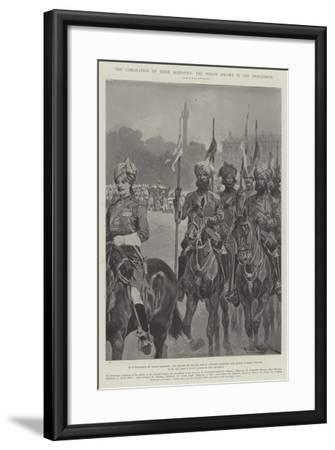The Coronation of their Majesties, the Indian Escort in the Procession-Richard Caton Woodville II-Framed Giclee Print