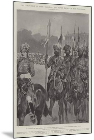 The Coronation of their Majesties, the Indian Escort in the Procession-Richard Caton Woodville II-Mounted Giclee Print