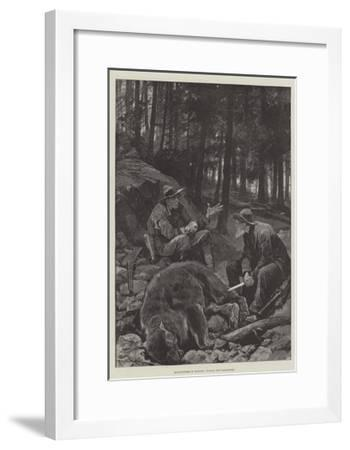 Bear-Hunters in Montana, Victors and Vanquished-Richard Caton Woodville II-Framed Giclee Print