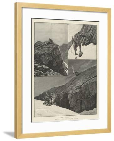 After Rocky Mountain Sheep-Richard Caton Woodville II-Framed Giclee Print