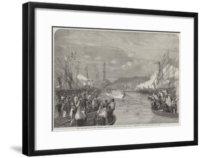 The War, Arrival of the Emperor Napoleon at the Port of Genoa-Richard Principal Leitch-Framed Giclee Print