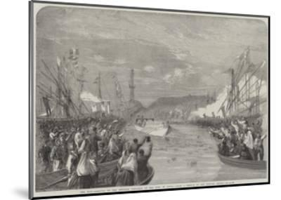 The War, Arrival of the Emperor Napoleon at the Port of Genoa-Richard Principal Leitch-Mounted Giclee Print