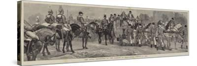 The Royal Procession at the Opening of Parliament, 21 January 1886-Richard Caton Woodville II-Stretched Canvas Print