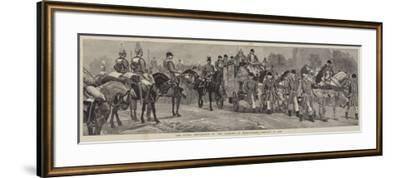 The Royal Procession at the Opening of Parliament, 21 January 1886-Richard Caton Woodville II-Framed Giclee Print