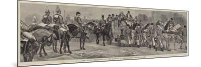 The Royal Procession at the Opening of Parliament, 21 January 1886-Richard Caton Woodville II-Mounted Giclee Print
