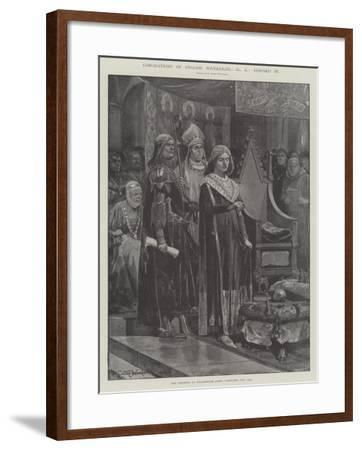 Coronations of English Sovereigns, Edward Iii-Richard Caton Woodville II-Framed Giclee Print