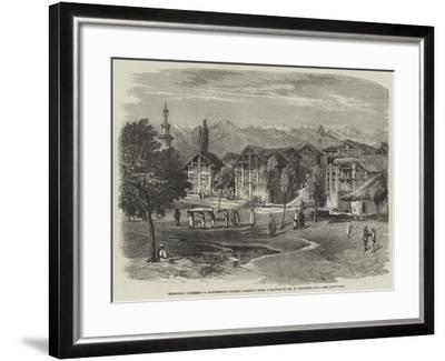 Islamabad, Cashmere, a Mahommedan Funeral Passing-Richard Principal Leitch-Framed Giclee Print