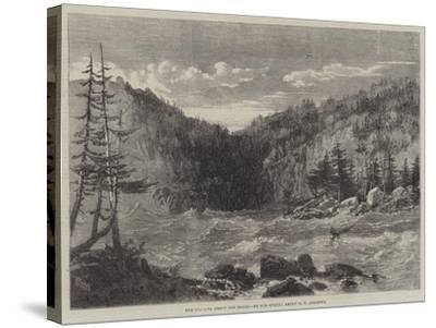 The Niagara Above the Falls-Richard Principal Leitch-Stretched Canvas Print
