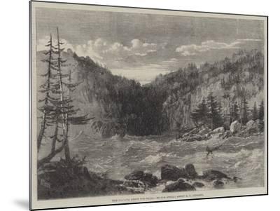 The Niagara Above the Falls-Richard Principal Leitch-Mounted Giclee Print