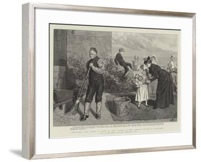 Innocence and Crime, a Scene in the Garden of the Convict Prison at Portland-Robert Barnes-Framed Giclee Print