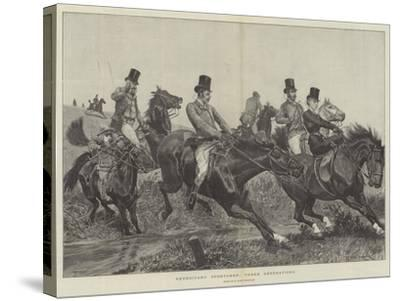 Hereditary Sportsmen, Three Generations-Richard Caton Woodville II-Stretched Canvas Print