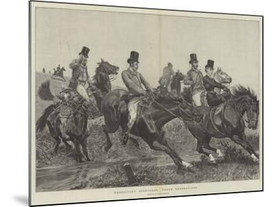 Hereditary Sportsmen, Three Generations-Richard Caton Woodville II-Mounted Giclee Print