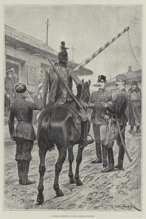A Russian Deserter on the Austrian Frontier-Richard Caton Woodville II-Stretched Canvas Print