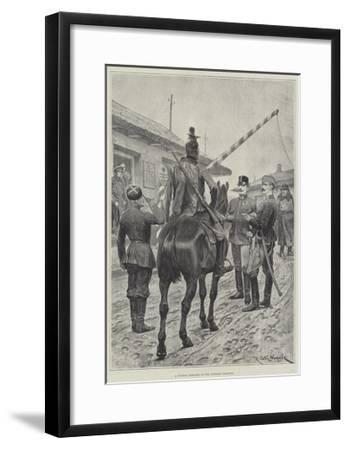 A Russian Deserter on the Austrian Frontier-Richard Caton Woodville II-Framed Giclee Print