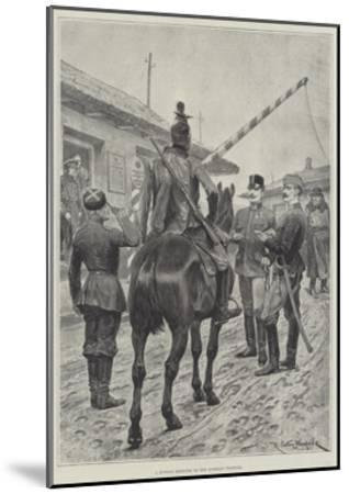 A Russian Deserter on the Austrian Frontier-Richard Caton Woodville II-Mounted Giclee Print
