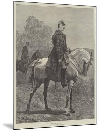 King Milan of Servia-Richard Caton Woodville II-Mounted Giclee Print